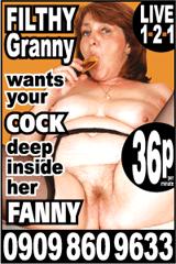filthy grannies phone sex advert