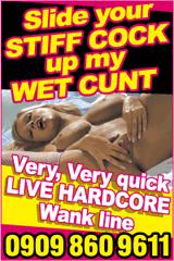Hardcore wank line phone sex advert